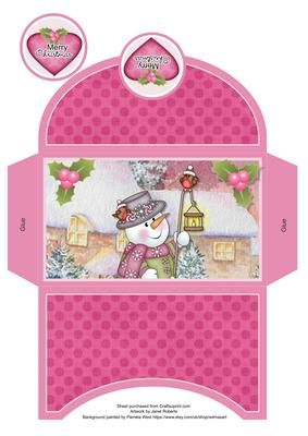 Chilly with Lamp Money Wallet on Craftsuprint designed by Janet Roberts - This money wallet goes with my 'Chilly with Lamp' mini kit ...... please see the link below - Now available for download!