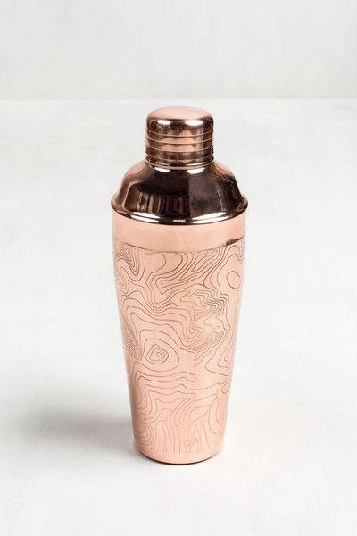 Copper Cocktail Shaker, unitedbyblue.com, $48