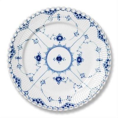 """1  Royal Copenhagen Blue Fluted Full Lace 10.75"""" Dinner Plate"""
