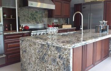 Diamond Arrow Granite Contemporary Kitchen Countertops