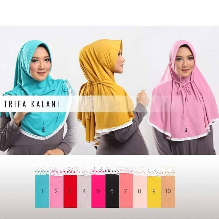 Jilbab Instan Trifa Kalani Jersey, hijab Instan dengan pad yang bisa dikreasikan menjadi 3 model.