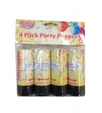4 Pack Party poppers