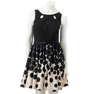 LC Lauren Conrad Dot & Flare Dress {under $50!}