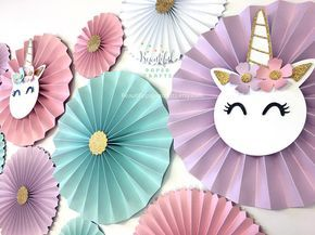 Unicorn Backdrop Unicorn Party Decor Unicorn Party Decor