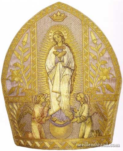 Beautiful Hand Embroidered Mitre - Assumption - belonged to Pope Pius IX