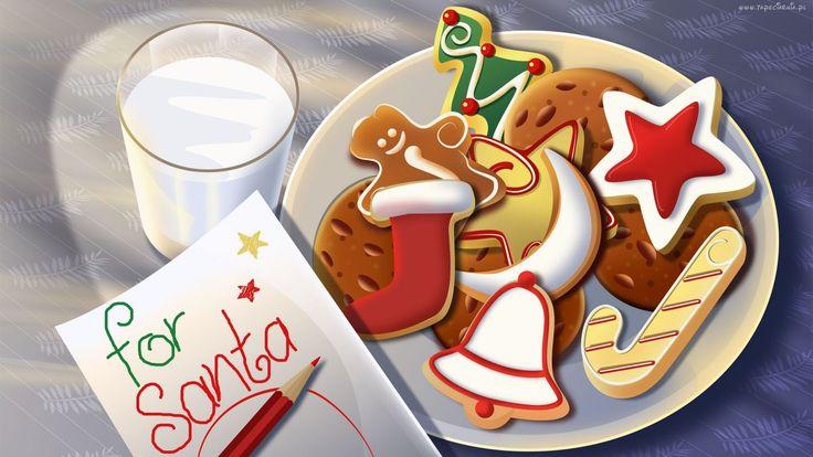 Świąteczne, Pierniczki, Szklanka, Mleka