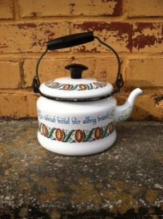 Vintage Swedish Watched Tea Kettle  Design by YourSouthernGraceCo