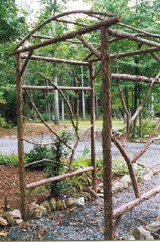 Rustic Garden Structures Arbors. Great idea to use for where the bride enters the ceremony or a narrow alter