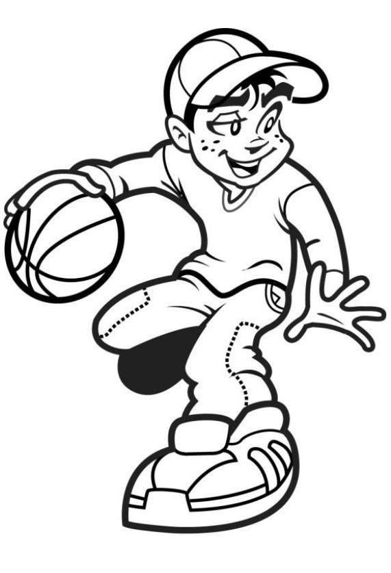 Stupendous image for printable basketball coloring pages