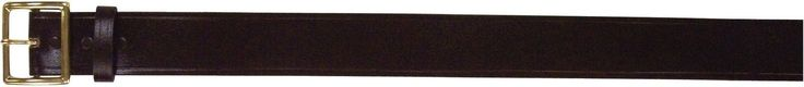 """Black Bonded Leather Garrison Belt W/ Gold Buckle - 1¾"""" Thick / Even Sizes 30-46"""