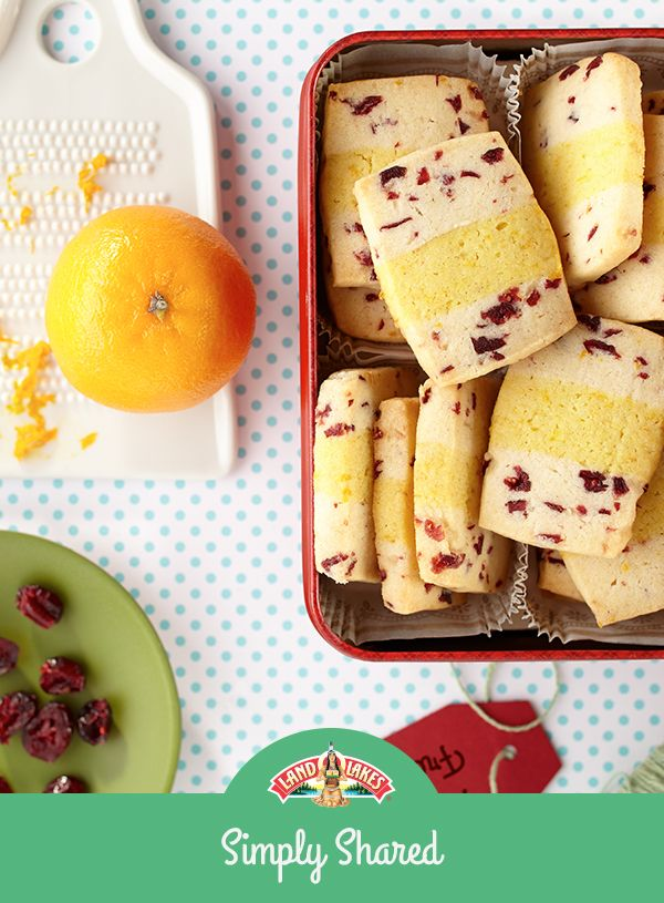 Use cranberries and orange zest to create two types of dough in these layered cookies. Sure to quickly disappear from the Christmas cookie tray!