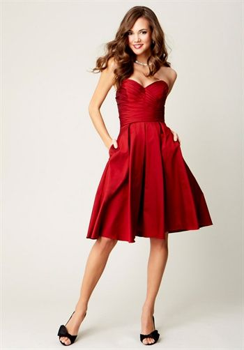 Wedding Color Theme 3 : Red, Black, and White | Bridesmaids Dresses