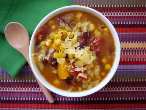 Crock Pot Mexican Corn and Bean Soup on Weelicious