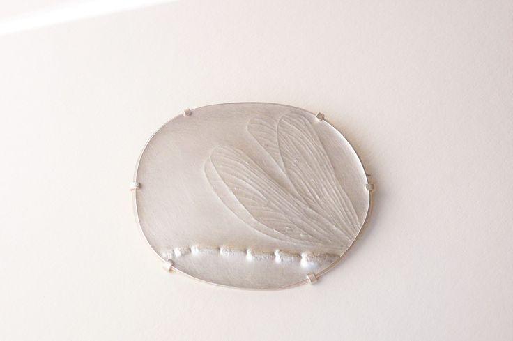 Gabriele Hinze Silber - engraved brooch