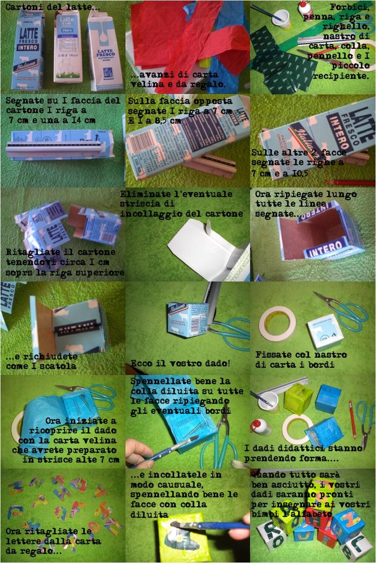 Come trasformare i cartoni del latte in colorati strumenti didattici.
