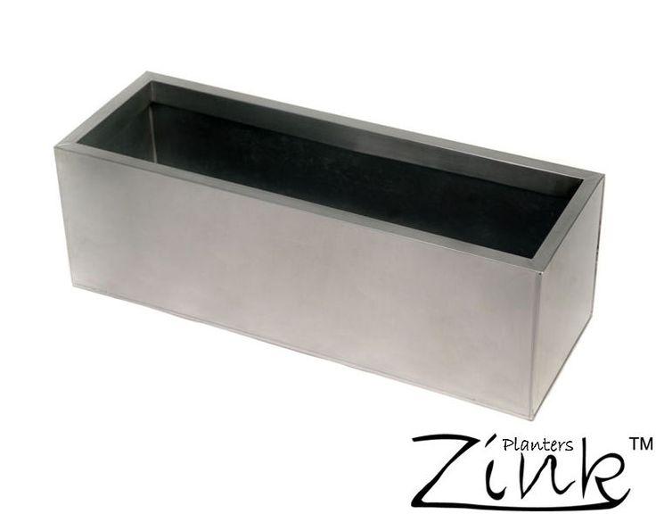 Zinc Galvanised Trough Steel Metal Planter Plant Pot Garden Outdoor Patio Silver   eBay