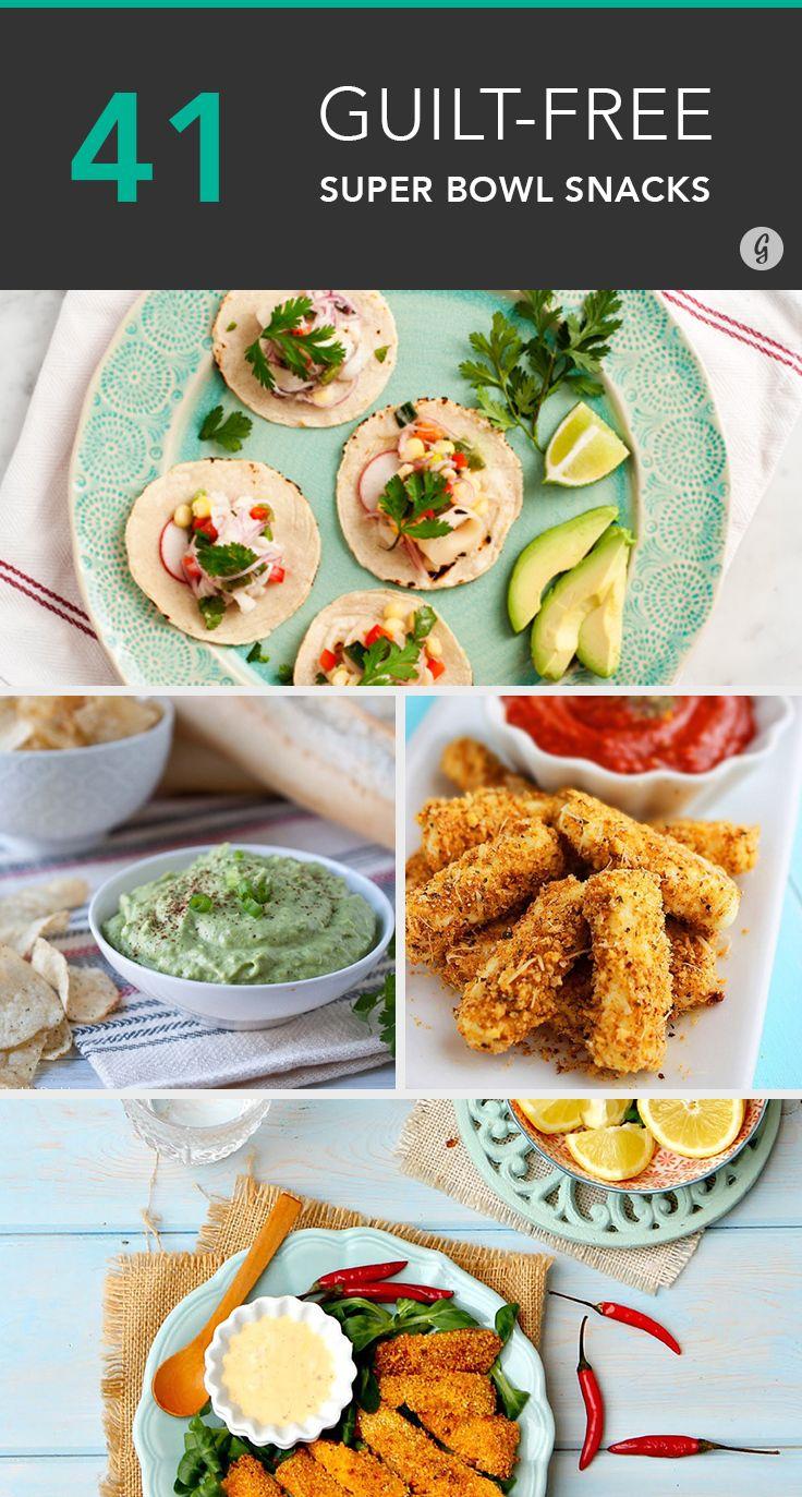 41 guilt-free super bowl snacks | food & drink & recipes | pinterest