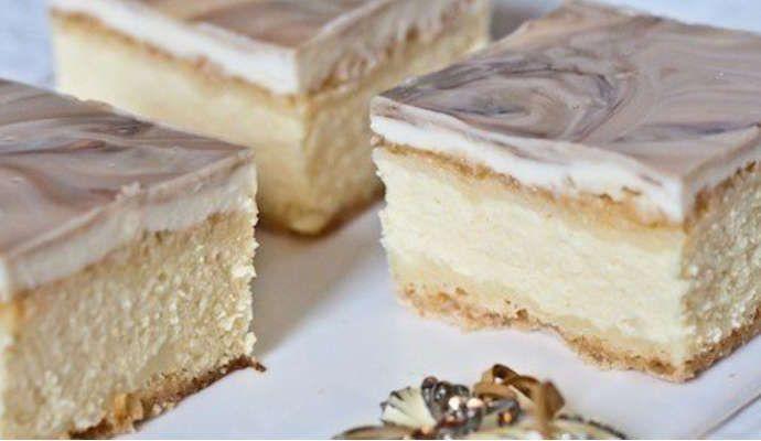 Песочное пирожное с творогом