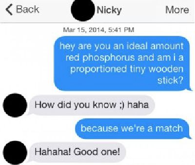 A good pick up line for online dating