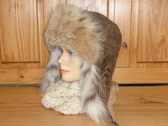 Fur Aviator Hat, Ushanka, Recycled Lynx Fur, Buy online!