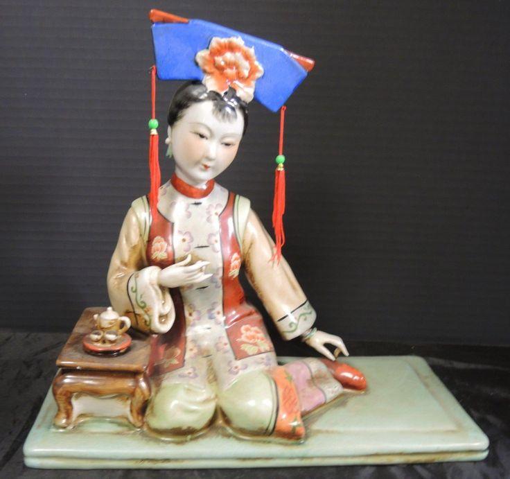 Vintage porselein,Lijst Statue.