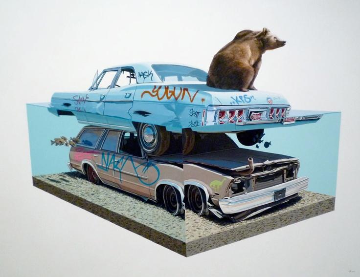 Josh Keyes Paintings For Sale
