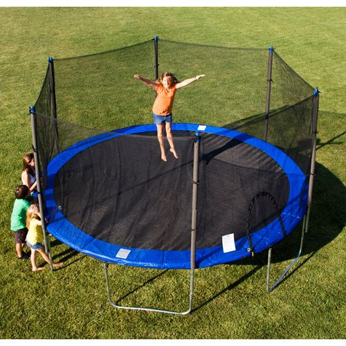 These round jumping platforms can fit into backyard corners and other tight places where the larger rectangle trampolines simply can't go. #besttrampoline #besttrampoline7 #outdoortrampoline #fun #trampolinesforyou