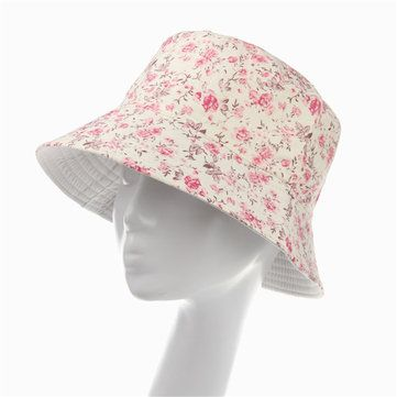 Women Ladies Cotton Boonie Floral Hunting Fishing Outdoor Cap Floral Summer Bucket Hat at Banggood
