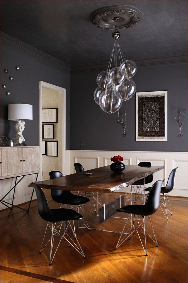 Contemporary Dining Room Lighting Ideas 3 Light Cluster Pendants