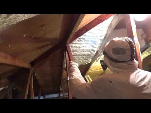 9 best spray foam insulation images on pinterest spray foam spray foam insulation in action solutioingenieria Image collections