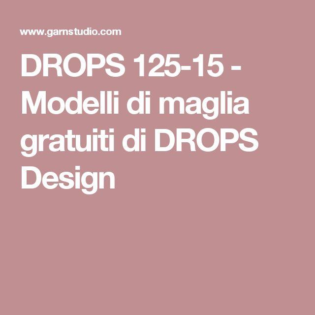 DROPS 125-15 - Modelli di maglia gratuiti di DROPS Design