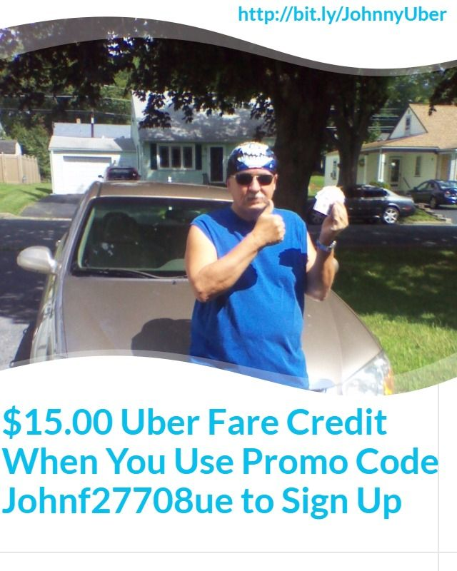 $15.00 Uber fare credit 4 new passengers.  Use Promo Code Johnf27708ue, sign up 2 drive at http://wu.to/WRl1Xr