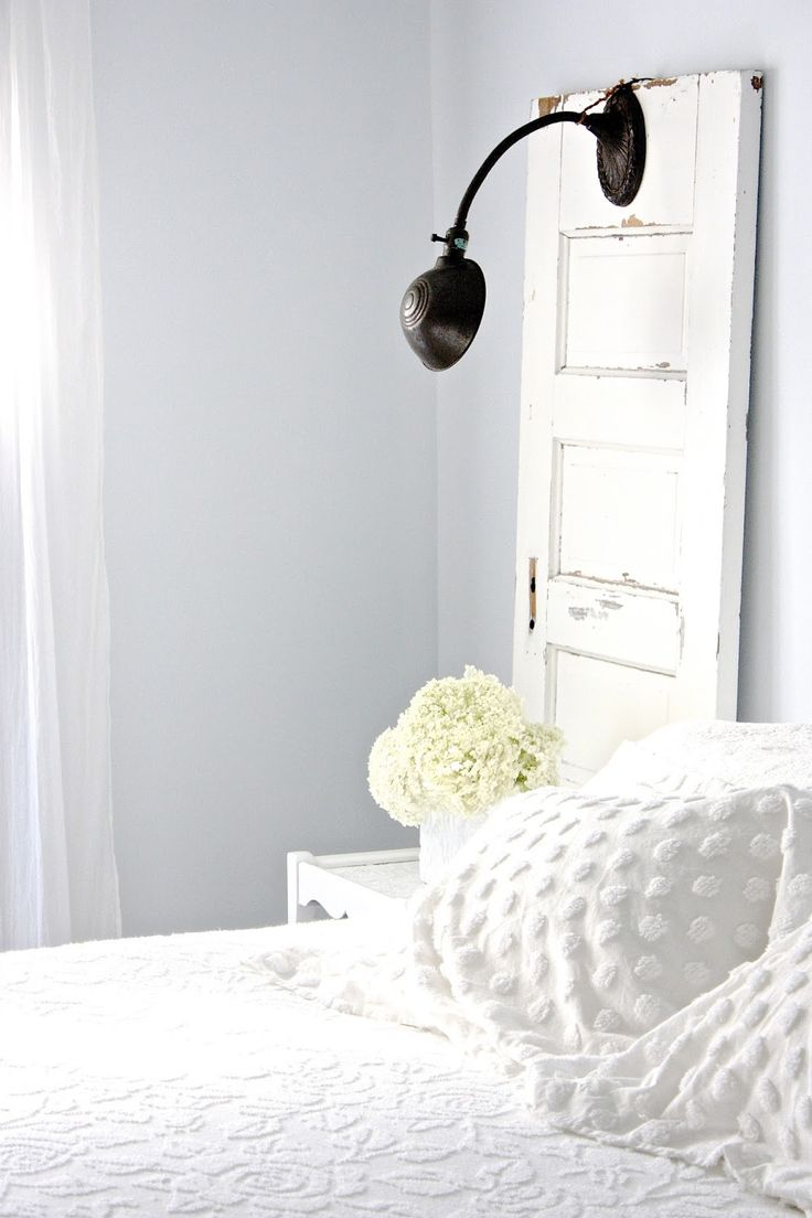 Gray Bedroom With Pop Of Color