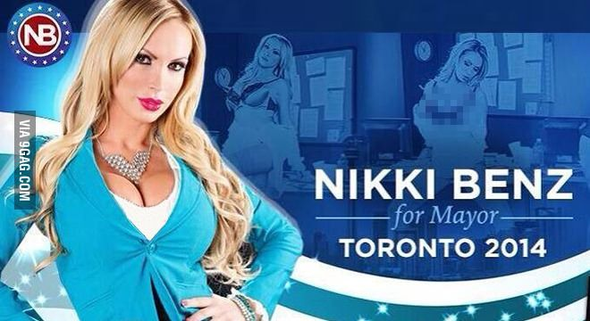 So a porn star is running for the election of the Mayor of Toronto in Canada