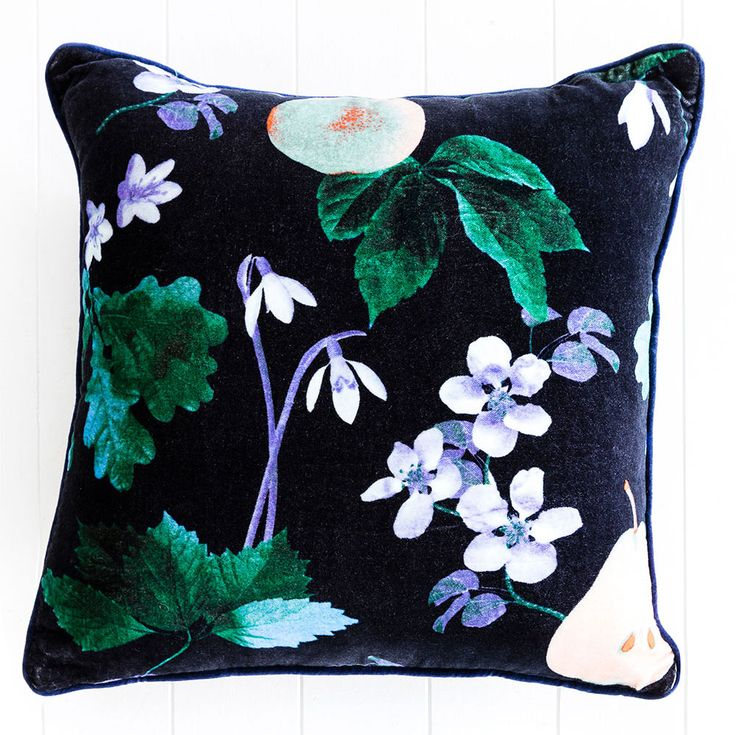 Sanctuary Studio Cushion - Poached Pear - Navy