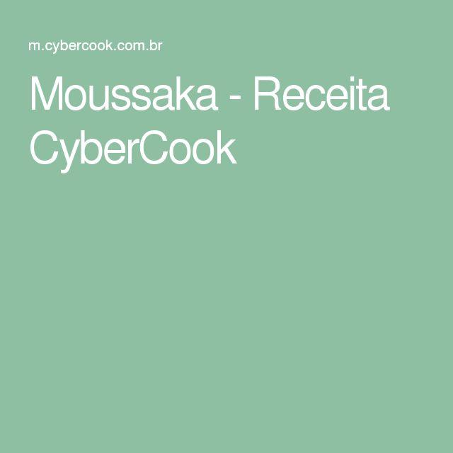 Moussaka - Receita CyberCook