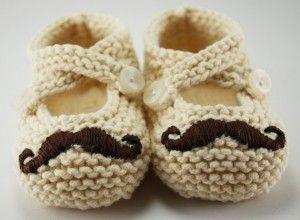 mustache booties!