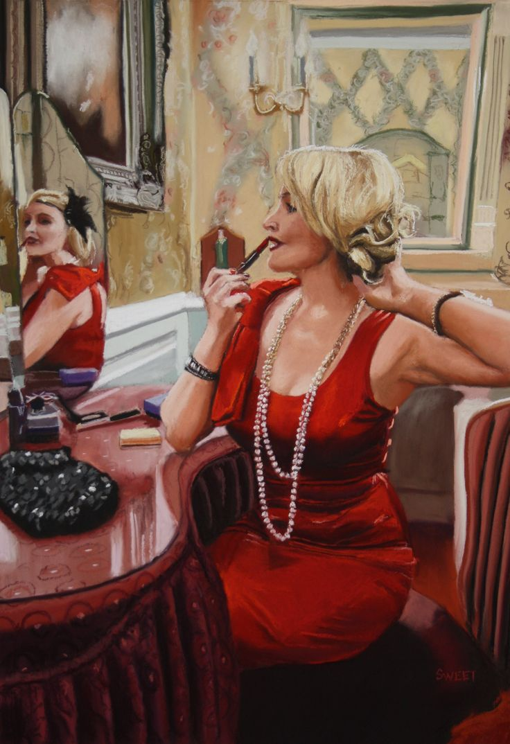 """""""Galgorm Red"""" Soft pastel on board primed with pumice. Giclee prints from www.davidsweet.co.uk"""