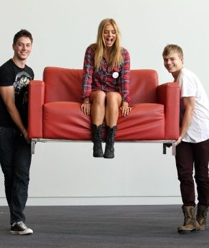 Lincoln Younes, Samara Weaving & Davin Jones Roberts (Home And Away)