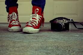 red shoes + camera