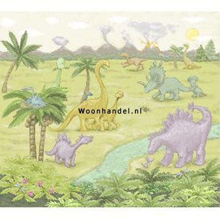 380006 Dino Jungle Eijffinger Fotobehang Dinosaurus - Woonhandel