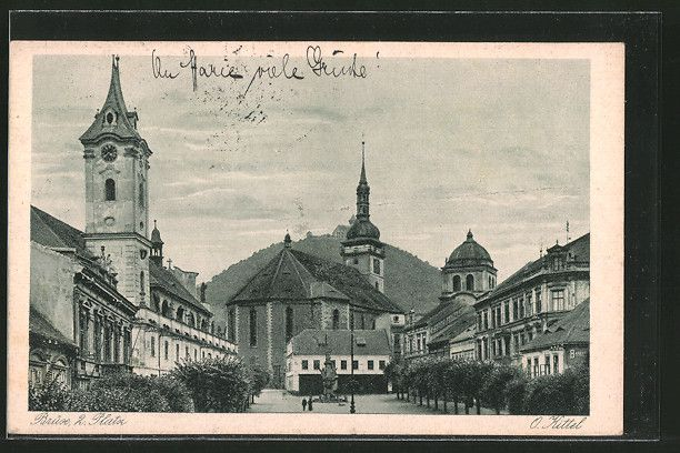 old postcard: AK Brüx / Most, 2. Platz