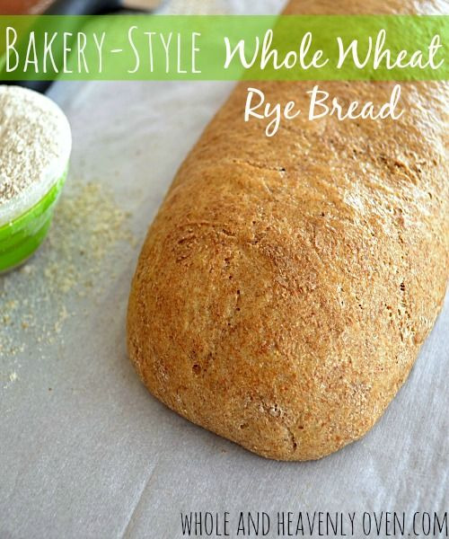 Soft and chewy homemade rye bread with a healthy whole wheat twist—This melt-in-your-mouth bread tastes exactly like bakery-style rye bread! Step-by-step photos included! | wholeandheavenlyoven.com