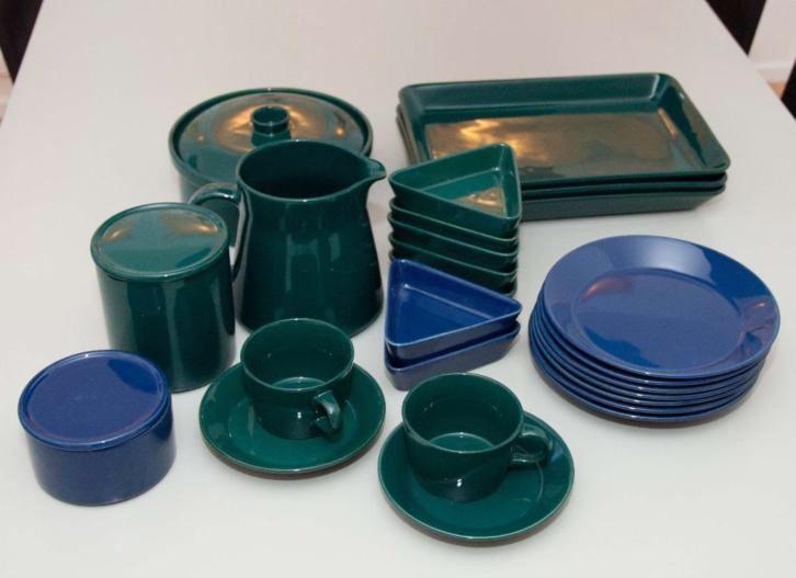 ARABIA Kaj Franck KILTA servies [Blauw Groen]. Design 1948 (: http://link.marktplaats.nl/m1009170966