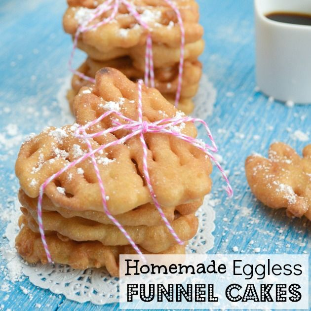 Homemade Eggless and Dairy Free Mini Funnel Cakes - egg and dairy free!