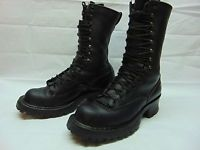 White's Smoke Jumper Logger Packer Black Leather Steel Toe Boots Men's 9 D