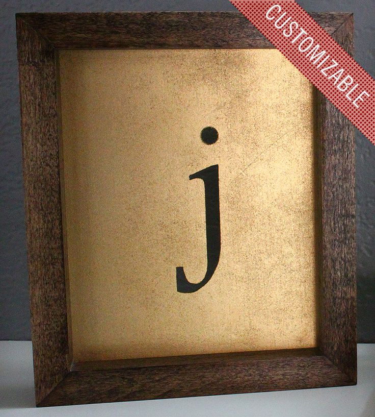 Custom Framed Initial - this one is mine!