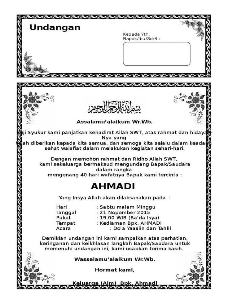 download undangan tahlil 40 hari ms word Undangan