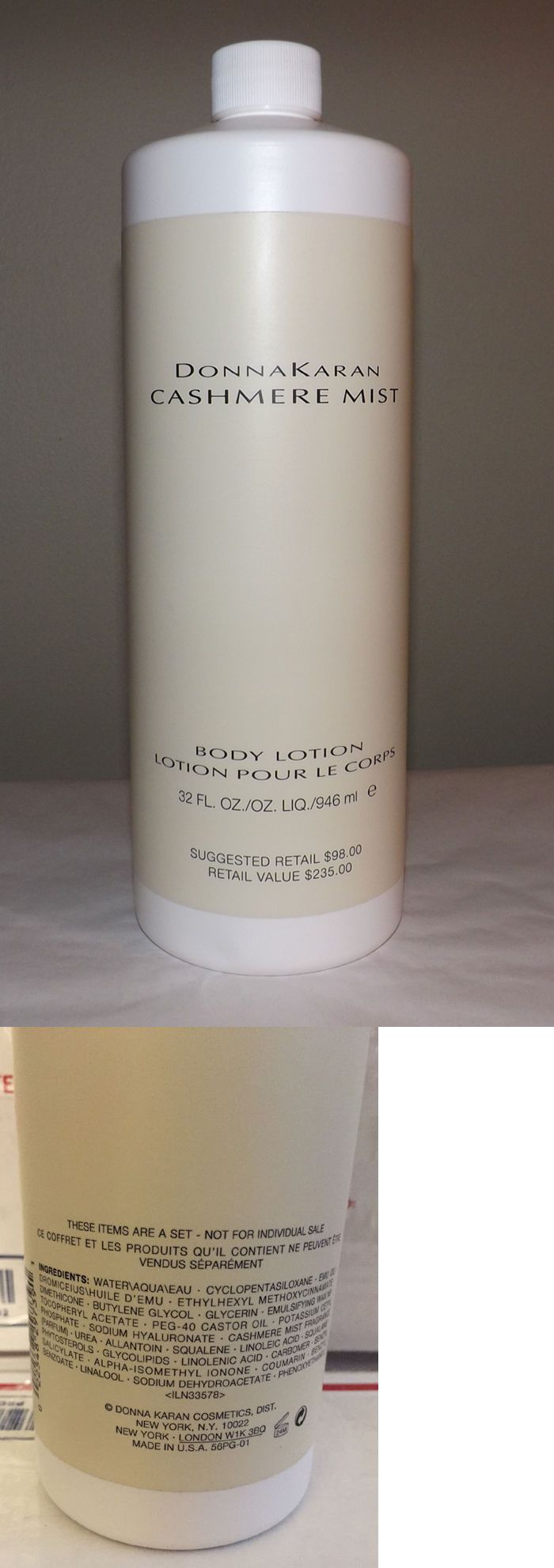 Body Lotions and Moisturizers: $235 Donna Karan Perfume ~ Cashmere Mist Body Lotion ~ 32 Oz. BUY IT NOW ONLY: $105.0