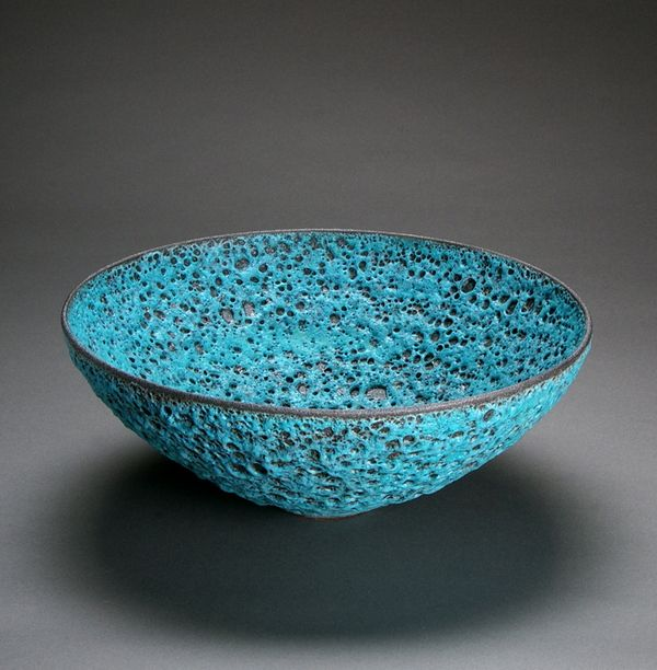 Large Bowl (Turquoise) by Josh Herman - costello childs contemporary fine art